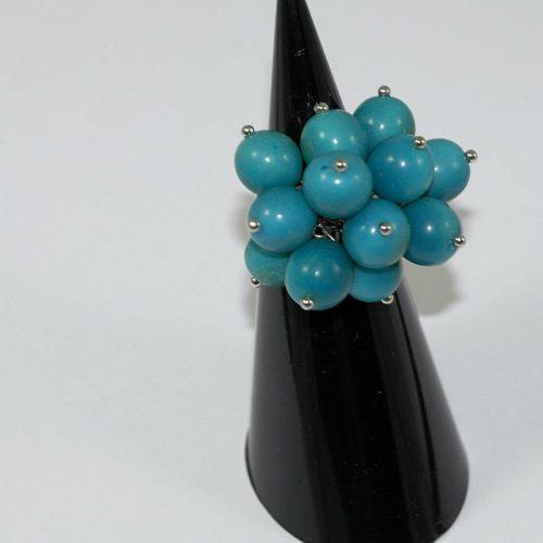 Bague perles tagua