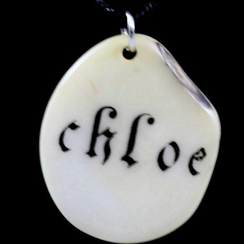 Tranche de tagua gravée prénom Chloé