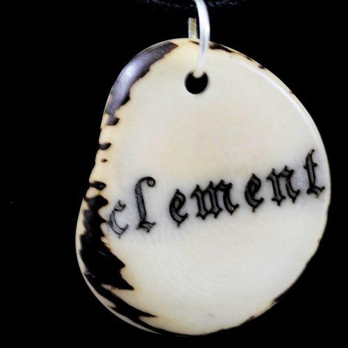 Tranche de tagua gravée prénom Clément