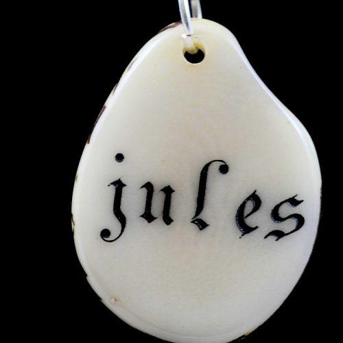 Tranche de tagua gravée prénom Jule