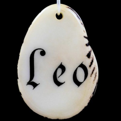 Tranche de tagua gravée prénom Léo