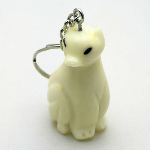 Porte clé chat assis tagua