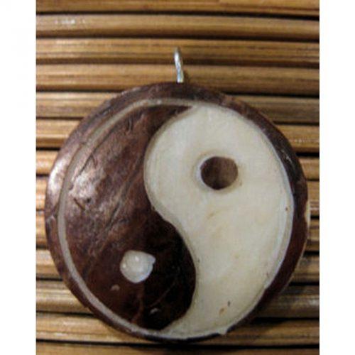 Pendentif tagua yin et yang