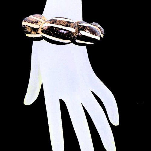 Bracelet tagua bombé