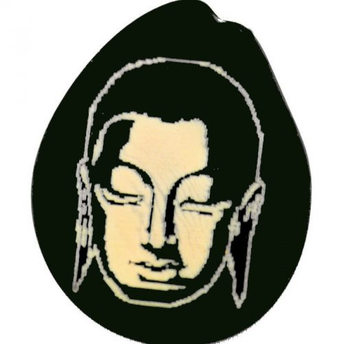 Pendentif, porte clés ou bracelet gravure Bouddha