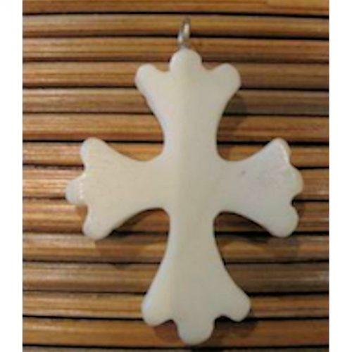 Pendentif tagua croix occitane