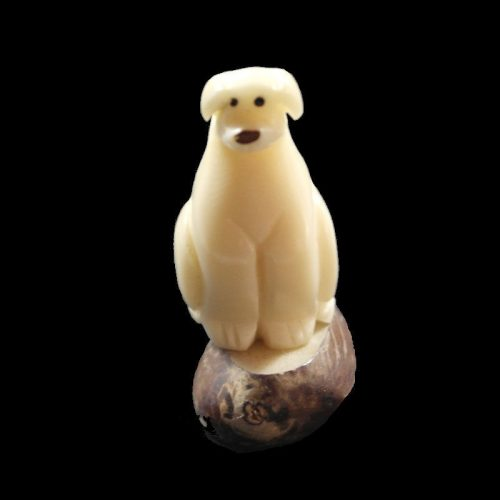 Labrador taillé dans la graine de tagua