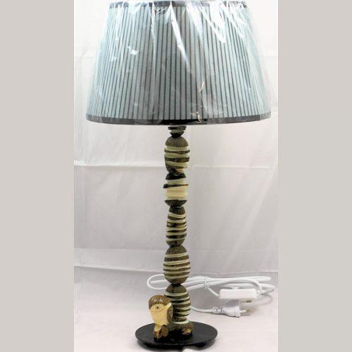 Lampe grand pied bougeoir en graines de tagua