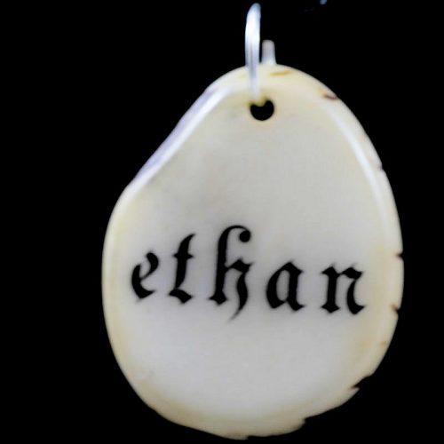 Tranche de tagua gravée prénom Ethan