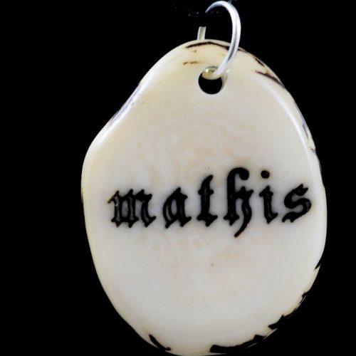 Tranche de tagua gravée prénom Mathis