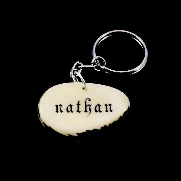 Tranche de tagua gravée prénom Nolan