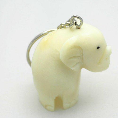 Porte clé éléphant tagua
