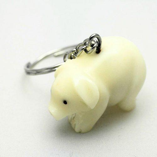 Porte clé cochon tagua