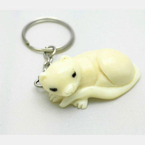 Porte clé chat couché tagua