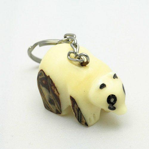 Porte clé panda tagua
