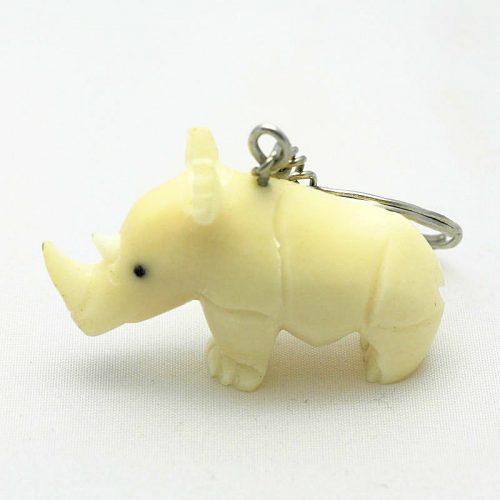 Porte clé rhinocéros tagua