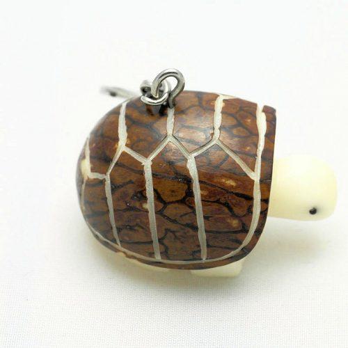 Porte clé tortue de terre écorce tagua