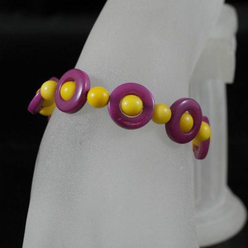Agrandir l'image Bracelet perles tagua