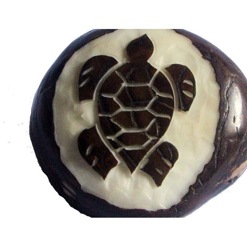 Graine de tagua gravure tortue de mer