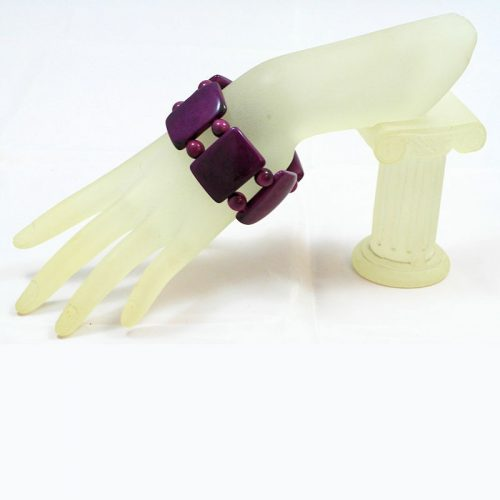 Bracelet plat tagua violet