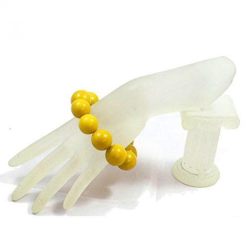 Bracelet perles tagua Jaune