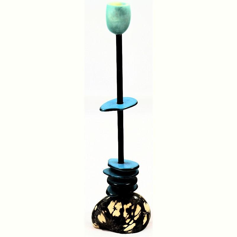 chandelier tagua teint en bleu le site de l 39 ivoire v g tal. Black Bedroom Furniture Sets. Home Design Ideas
