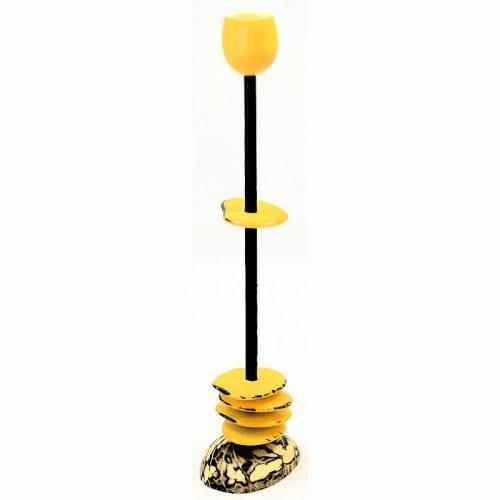 Agrandir l'image Chandelier tagua teinté en jaune
