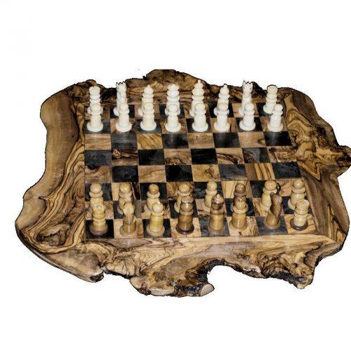 Jeu d'échecs en tagua Noir/blanc cases 40 mm.