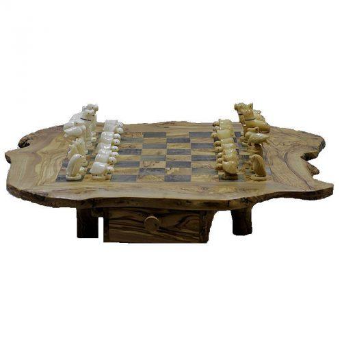 Jeu d'échecs d'animaux en tagua