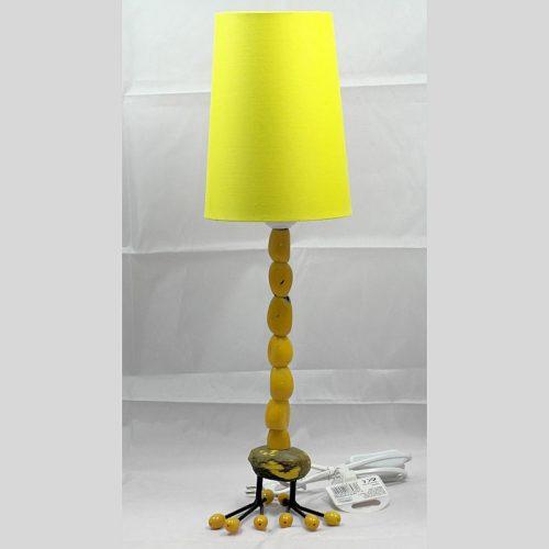 Lampe pied bougeoir en graines de tagua